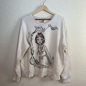 Disney Art of Snow White scoop neck sweater